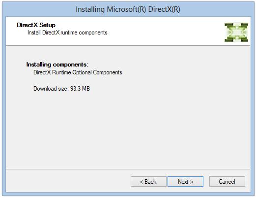Установка компонентов и драйверов DirectX в Windows 8