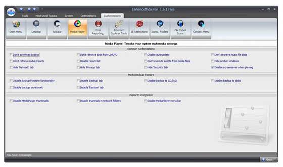 Интерфейс EnhanceMySe7en