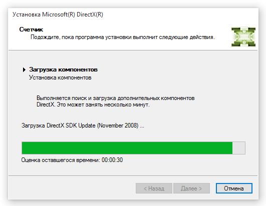 Установка компонентов и драйверов DirectX 11