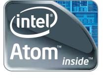 Логотип Intel Atom - наиболее популярный процессор для нетбуков и неттопов